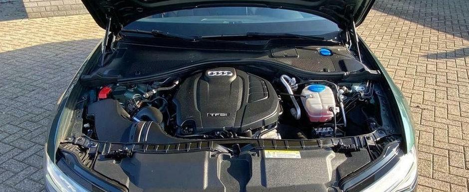 I se mai spune si A6-le saracului. Masina germana are motor de 1.8 litri si doar tractiune fata