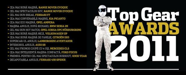 Iata care sunt masinile castigatoare la Top Gear Awards 2011