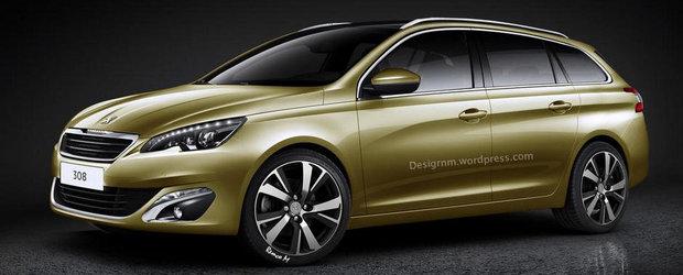 Iata cum ar putea arata noul Peugeot 308 SW!