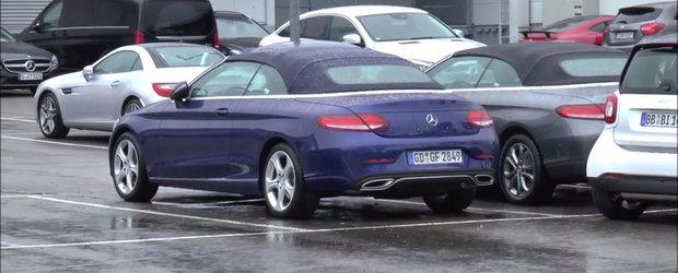IATA noul Mercedes C-Class Cabriolet! Decapotabila germana a fost surprinsa complet necamuflata