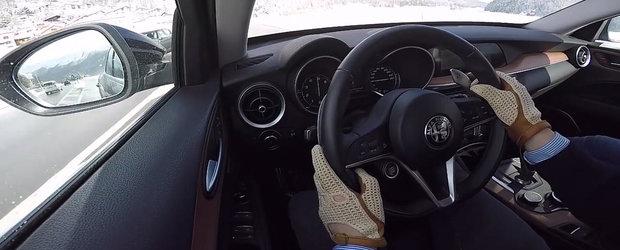 Ieri cu pozele, astazi cu actiunea. Test de acceleratie cu primul SUV din istoria Alfa