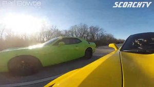 Ilegale in trei: Corvette Z06 vs. Challenger Hellcat vs. Shelby GT500