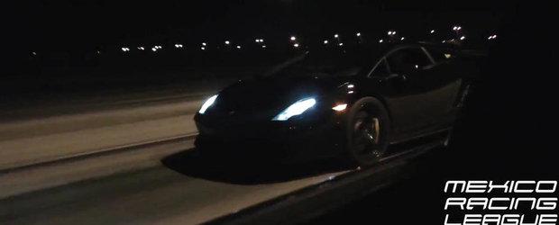 Ilegale la 200+ km/h: Duel nebun intre un GT-R de 1.270 CP si un Gallardo de 1.450 CP
