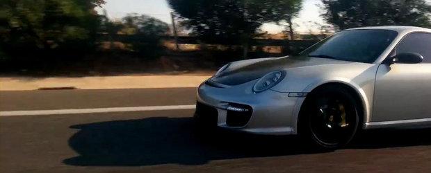 Ilegale pe autostrada: O Lada break face de rusine un Porsche 911 GT2 RS