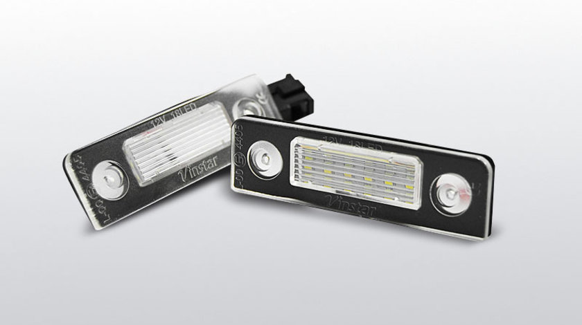 Iluminare numar Skoda Octavia 2009- / Roomster 2006-2010 CANBUS pe LED