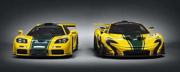 IMAGINI de colectie: Noul McLaren P1 GTR pozeaza alaturi de iconicul F1 GTR