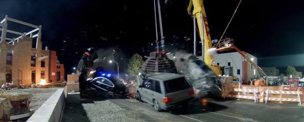 Imagini de pe platourile de filmare: Cum arata cea mai nebuna scena din Fast and Furious 8