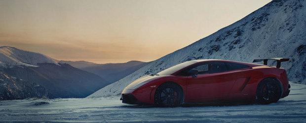 Imagini de sezon: Lamborghini Gallardo Super Trofeo Stradale pe Transfagarasan