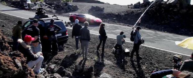 Imagini din culise: Cum a fost facuta reclama noului Lambo Aventador SV