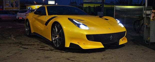 Imagini reale cu cel mai puternic Ferrari al momentului. Cum arata noul F12tdf