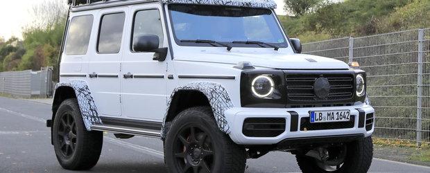 Imaginile care anunta intoarcerea REGELUI. Noul Mercedes G500 4×4², surprins pentru prima oara in teste