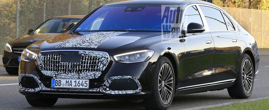 Imaginile care anunta intoarcerea REGELUI. Noul Mercedes-Maybach S-Class, surprins pentru prima oara in teste