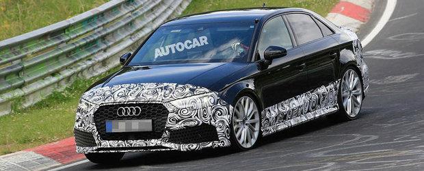 Imaginile care ii vor da fiori Mercedes-ului CLA45 AMG. Audi pregateste lansarea primului sau RS3 Sedan
