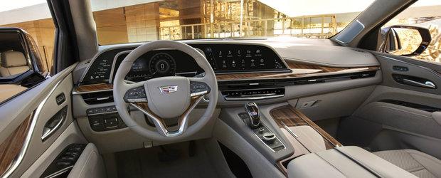 Imaginile care le dau fiori nemtilor. Noul Cadillac Escalade vine sa dea BMW X7 si Mercedes GLS jos de pe tron
