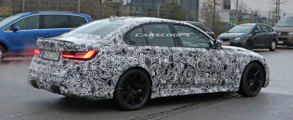 Imaginile pe care le asteptau fanii BMW. Noul M3 a fost surprins in teste cu o cutie manuala