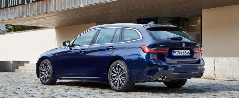 Imbina dinamica unui sedan cu practicalitatea unui break. Poze multe, sa-ti ajunga, cu noul BMW Seria 3 Touring