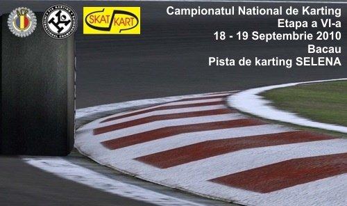 In acest week-end - etapa cu nr VI din Campionatul National de Karting 2010