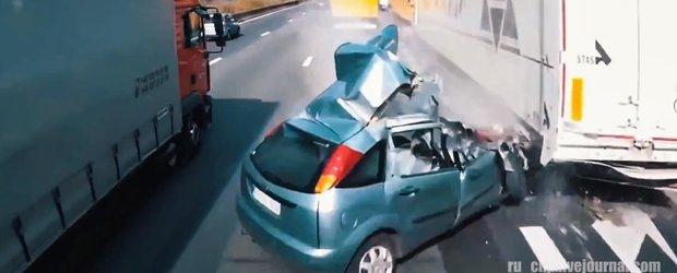 In Rusia, cam orice din trafic vrea sa te omoare: compilatie cu accidente