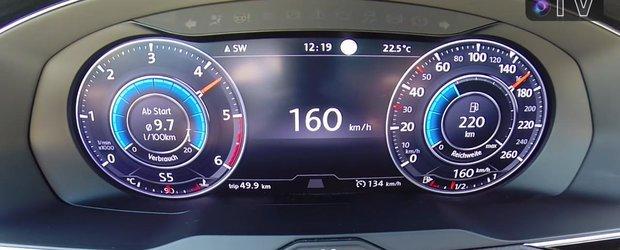 Inca o demonstratie de forta din partea motorului BiTDI de la VW. De la 0 la peste 220 km/h cu unitatea de 2.0 litri si 240 CP