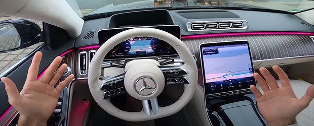 Inca o dovada ca noul S-Class este la ani lumina de A8 si Seria 7. VIDEO de la volanul limuzinei momentului