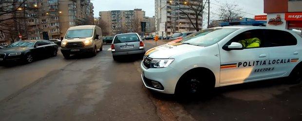 Inca un abuz al Politiei Locale Sector 5 filmat in trafic