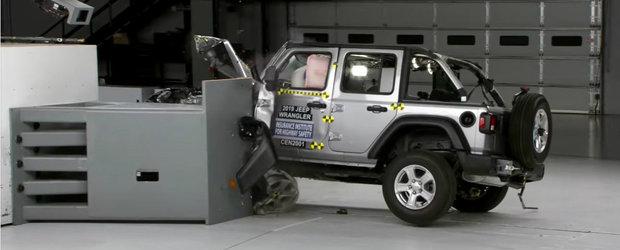 Inca un esec rasunator pentru Jeep Wrangler la testele de siguranta. Off-road-erul s-a RASTURNAT