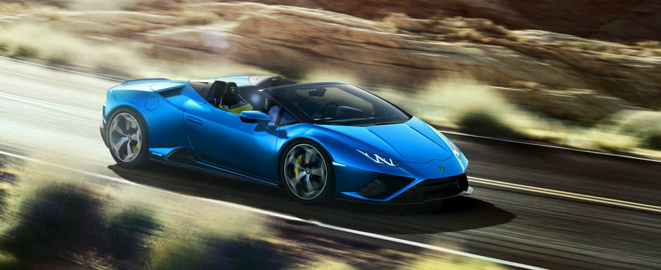 Inca un Lamborghini pentru fanii derapajelor controlate. El este noul Huracan Evo Spyder RWD