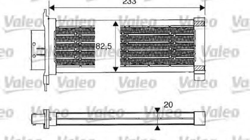 Incalzitor independent autovehicul CITROEN C3 I (FC) (2002 - 2016) VALEO 812235 piesa NOUA
