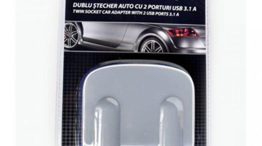 Incarcator Auto Mega Drive 2/2 Porturi Usb/Bricheta 3.1A 98514