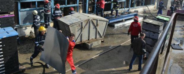 Incendiu de amploare la fabrica de componente auto Rolem din Codlea