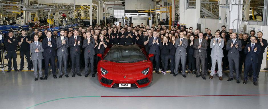 Incepe sa-si piarda din farmec. Lamborghini a produs deja Aventador-ul cu numarul 5.000