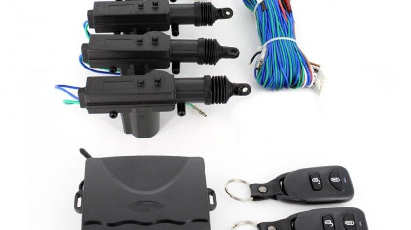 Inchidere centralizata cu telecomanda Carguard , cu 4 motoras si 2 buc telecomanda cu 2 butoane Kft Auto