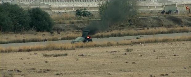 Incident pe pista de drag: Un Lambo de 2.000 CP se aprinde din senin