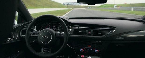 Incredibil, dar adevarat: Un Audi RS7 fara sofer alearga cu 155 km/h pe circuit!