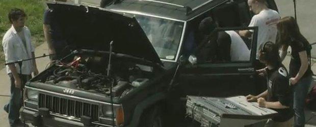 INCREDIBIL! Un Jeep-orchestra care face muzica!
