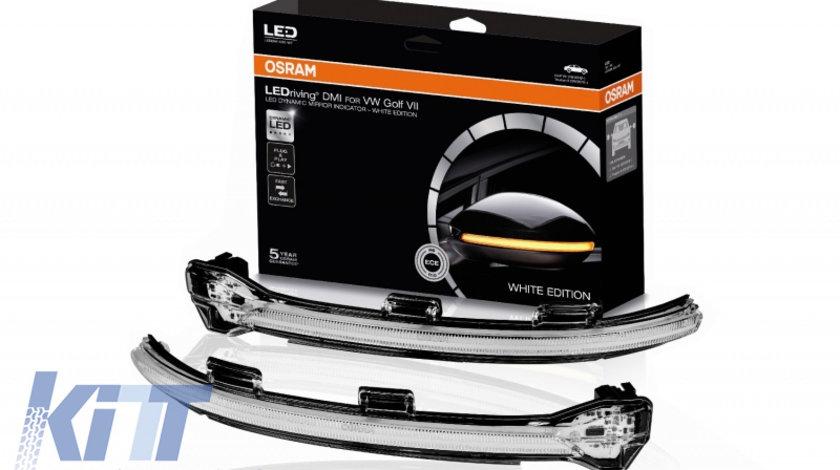 Indicator Dinamic Full LED pentru Oglinda Osram VW Golf 7 & 7.5 (08/2012-) VW Touran II (05/2015-) Lamando (2014 -2019) LEDriving Alb KTX2-LEDDMI5G0WT