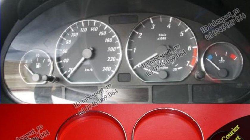 Inele Ceasuri Bord BMW E46 Crom - STOC LIMITAT -