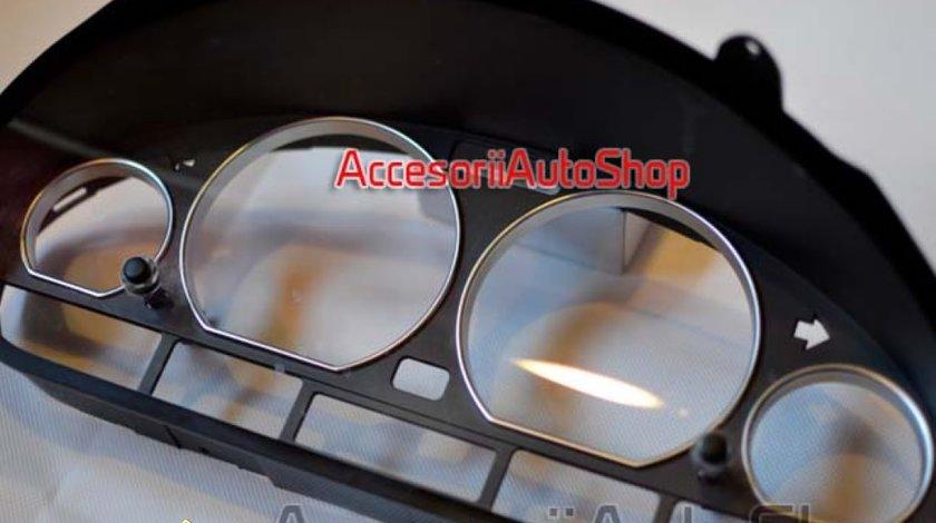 Inele ceasuri bord BMW E46 Seria 3 Silver Metalic 99 RON
