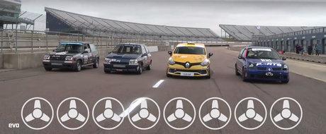 Inevitabila lupta a generatiilor. Patru hot-hatch-uri de la Renault lupta pentru... dreptate