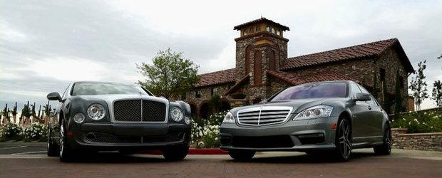 Infruntarea titanilor: Bentley Mulsanne versus Mercedes S65 AMG