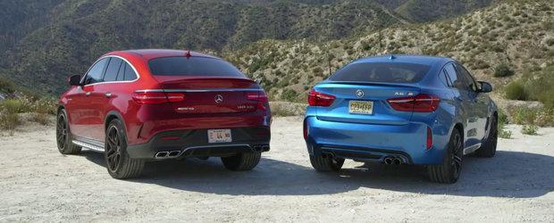 Infruntarea Titanilor: BMW X6 M versus Mercedes GLE63 AMG S Coupe