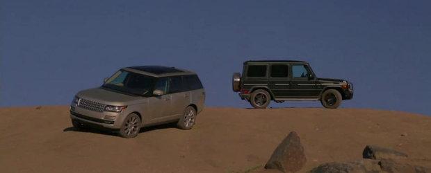 Infruntarea Titanilor: Range Rover versus Mercedes G63 AMG