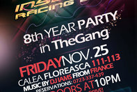 Insomnia 8th Year Party, 25 Noiembrie, The Gang: aniversare cu cantec!