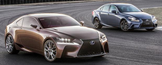 Intalnire de gradul zero: Noul Lexus IS 350 F Sport, fata in fata cu conceptul LF-CC