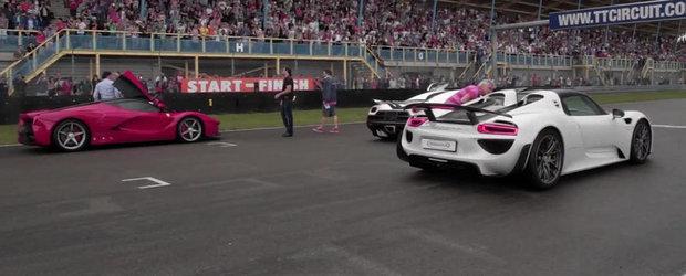 Intalnirea Gigantilor: Agera vs LaFerrari vs P1 vs 918 Spyder