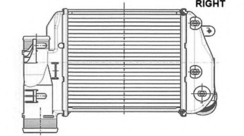 Intercooler, compresor AUDI A6 (4F2, C6) (2004 - 2011) NRF 30768 piesa NOUA