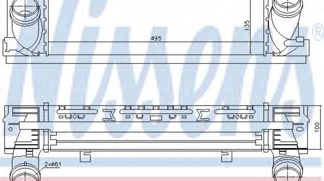 Intercooler, compresor BMW Seria 3 (F30, F35, F80) (2011 - 2016) NISSENS 96450 piesa NOUA