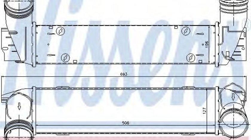 Intercooler, compresor BMW Seria 3 Touring (E91) (2005 - 2012) NISSENS 96595 piesa NOUA