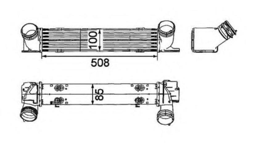 Intercooler, compresor BMW Seria 3 Touring (E91) (2005 - 2012) NRF 30797 piesa NOUA