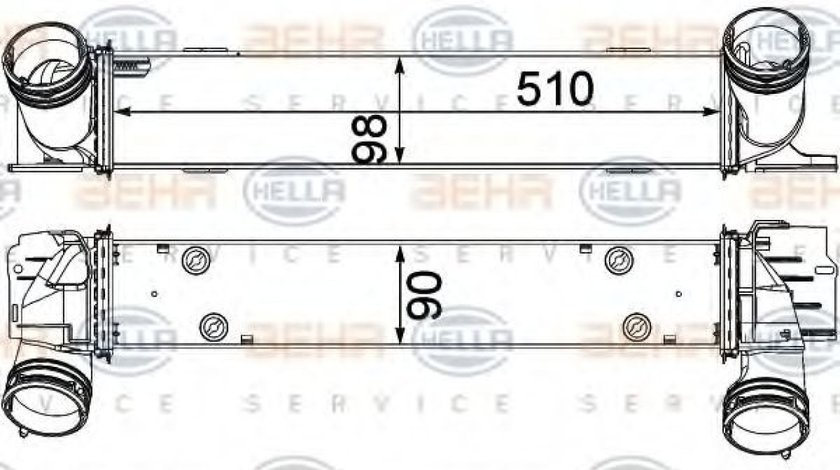 Intercooler, compresor BMW Seria 3 Touring (E91) (2005 - 2012) HELLA 8ML 376 731-791 piesa NOUA